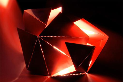 Wnętrza inspirowane origami