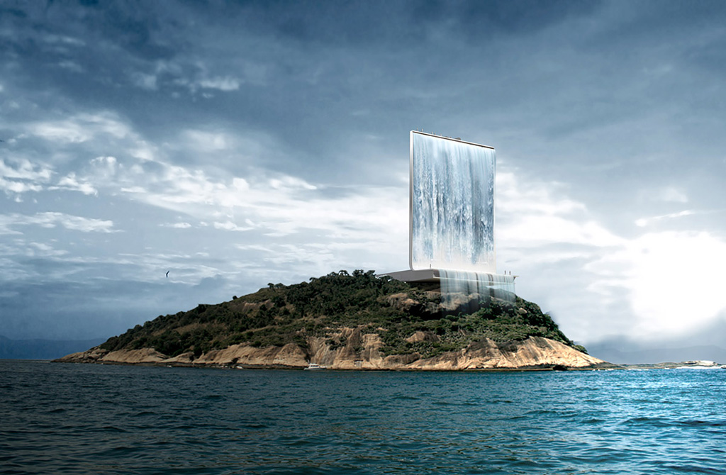 Sztuczny wodospad na Igrzyska Olimpijskie