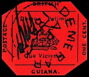 british guiana one cent black on magenta5 Najdroższe znaczki pocztowe na świecie