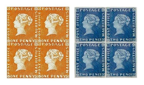 the first two mauritius stamps2 Najdroższe znaczki pocztowe na świecie