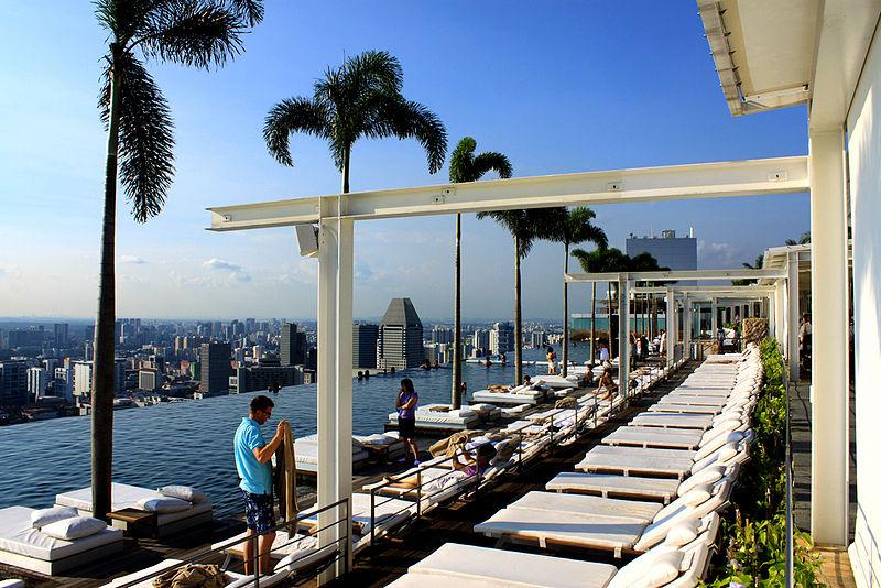 800px marina bay sands skypark Hotel Marina Bay Sands duma Singapuru